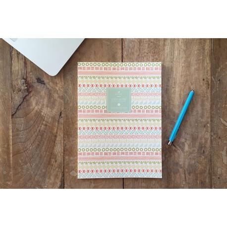 """Cuaderno de rayas """"azteca"""""""