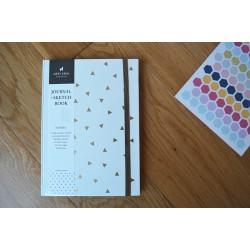 Planificador mensual y cuaderno triángulos blanco