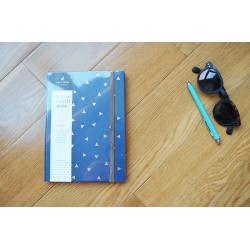 Planificador mensual y cuaderno triángulos azul