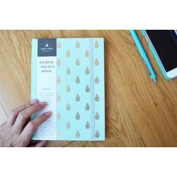 Planificador mensual y cuaderno mint piña